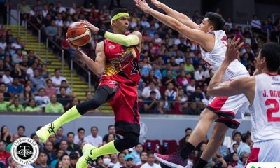 Philippine Sports News - Tiebreaker Times Arwind Santos on Game 3 loss: 'May mga shadow yung players kanina, yung lima nagiging walo' Basketball News PBA  San Miguel Beermen PBA Season 43 Arwind Santos 2017-18 PBA Philippine Cup