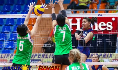 Philippine Sports News - Tiebreaker Times Ces Molina steps up as Petron denies Cocolife for first round sweep News PSL Volleyball  Yuri Fukuda Taylor Milton Shaq delos Santos Sara Klisura Rhea Dimaculamgan Petron Blaze Spikers Moro Branislav Lindsay Stalzer Cocolife Asset Managers Ces Molina 2018 PSL Season 2018 PSL Grand Prix