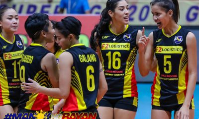 Philippine Sports News - Tiebreaker Times F2 Logistics drubs Generika-Ayala, maintains solo second News PSL Volleyball  Symone Hayden Sherwin Meneses MJ Perez Minami Yoshioka Kim Fajardo Generika-Ayala Lifesavers F2 Logistics Cargo Movers Darlene Ramdin Aby Marano 2018 PSL Season Arnold Laniog 2018 PSL Grand Prix