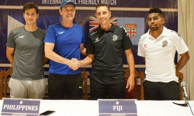 Tiebreaker Times Azkals thankful for Fiji date, target fine dress rehearsal for Tajikistan game Football News Philippine Azkals  Thomas Dooley Phil Younghusband Azkals Friendly