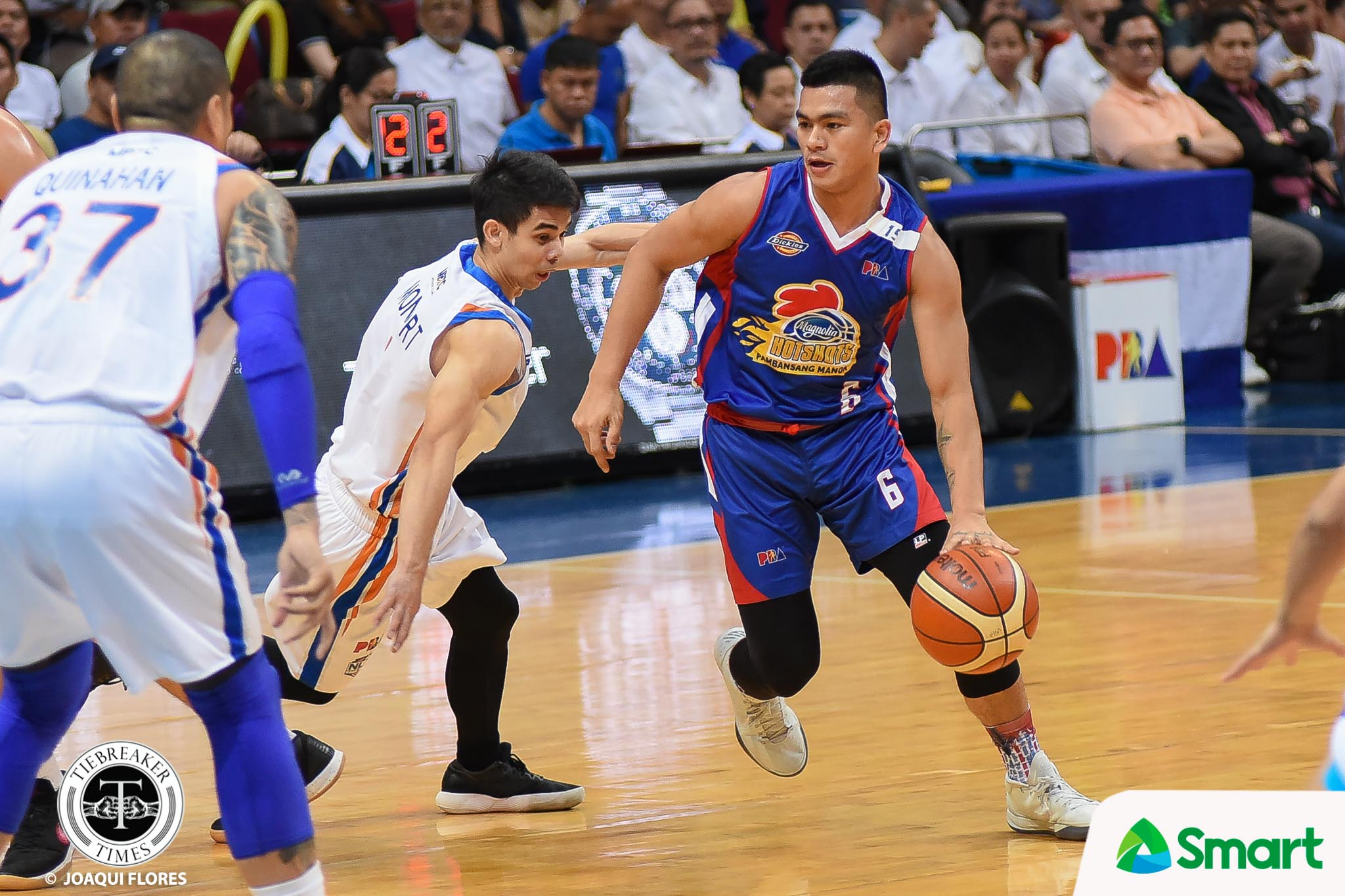 Tiebreaker Times Jio Jalalon requested to defend Kiefer Ravena Basketball News PBA  PBA Season 43 Magnolia Hotshots Kiefer Ravena Jio Jalalon 2017-18 PBA Philippine Cup