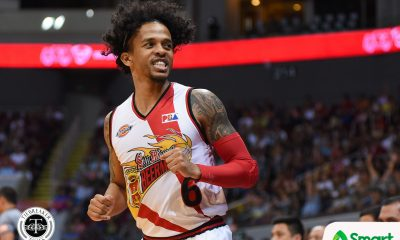 Philippine Sports News - Tiebreaker Times San Miguel dismantles Ginebra, moves a win away from Finals return Basketball News PBA  Tim Cone PBA Season 43 Matt Ganuelas-Rosser Marcio Lassiter Leo Austria LA Tenorio June Mar Fajardo Japeth Aguilar Chris Ross Arwind Santos Alex Cabagnot 2017-18 PBA Philippine Cup