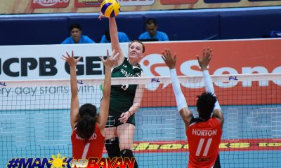 Tiebreaker Times Sta. Lucia stuns Cignal in tight three-setter News PSL Volleyball  Sta. Lucia Lady Realtors Sonja Milanovic Rebecca Rivera Mar-Jana Phillips Kristen Moncks Jeana Horton George Pascua Cignal HD Spikers Bohdana Anisova 2018 PSL Season 2018 PSL Grand Prix
