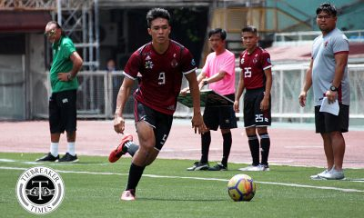Tiebreaker Times UP Fighting Maroons survive Christian Lapas red card, condemn Ateneo to 2nd defeat ADMU Football News UAAP UP  UP Men's Football UAAP Season 81 Men's Football UAAP Season 81 Rupert Baña Kintaro Miyagi Jay Pee Merida Jae Arcilla Daniel Saavedra Ateneo Men's Football Anton Yared Anto Gonzales