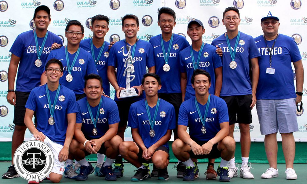 UAAP 80 Men's Tennis – 1st Runners Up – Ateneo Blue Eagles