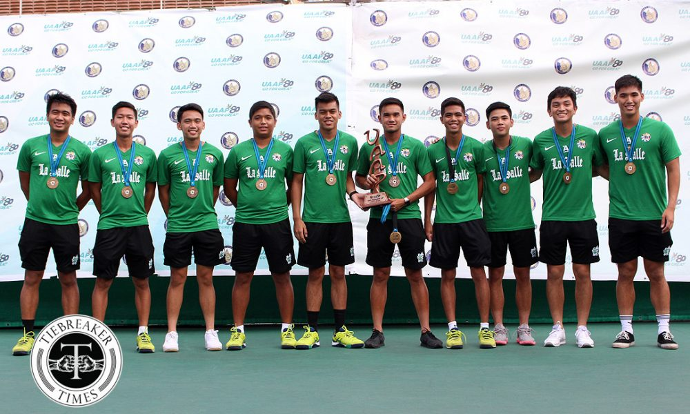 UAAP 80 Men's Tennis – 2nd Runners Up – DLSU Green Tennisters