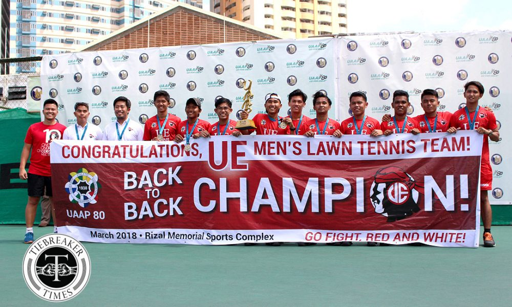UAAP 80 Men's Tennis – Champion – UE Red Warriors