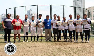 Philippine Sports News - Tiebreaker Times UAAP Season 80 Softball Awarding Ceremony AdU News Softball UAAP UE UST  UST Softball UE Softball UAAP Season 80 Softball UAAP Season 80 Tin Palma Riezel Calumbres Nicole Padasas Mia Laurel Krisha Cantor Jessie Belano Jenette Rusia Imee Salvador Edna Severino Ann Antolihao Adamson Softball