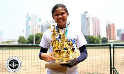 Philippine Sports News - Tiebreaker Times Jenette Rusia seizes the moment, takes MVP tiara AdU News Softball UAAP  UAAP Season 80 Softball UAAP Season 80 Jenette Rusia Ana Santiago Adamson Softball