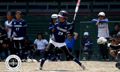 Tiebreaker Times Riezel Calumbres does not let demotion affect her game AdU News Softball UAAP  UAAP Season 80 Softball UAAP Season 80 Riezel Calumbres Ana Santiago Adamson Softball