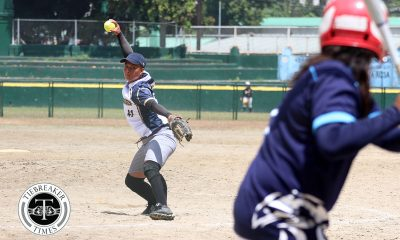 Philippine Sports News - Tiebreaker Times NU deals Adamson second loss to clinch Final Four berth AdU News NU Softball UAAP  UAAP Season 80 Softball UAAP Season 80 Shaira Damasing NU Softball Nicole Ordoyo Mary Ann Ramos Leslie Benabaye Ghene Nietes Egay delos Reyes Baby Jane Raro Ana Santiago Adamson Softball