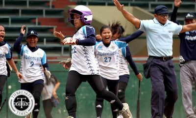 Tiebreaker Times Gelyn Lamata's clutch hit books Adamson ticket to Finals News NU Softball UAAP UST  UAAP Season 80 Softball UAAP Season 80 Shaira Damasing NU Softball Mia Macapagal Lyca Basa Kristiane Acuna Jenette Rusia Ghene Nietes Gelyn Lamata Egay delos Reyes Ana Santiago Adamson Softball