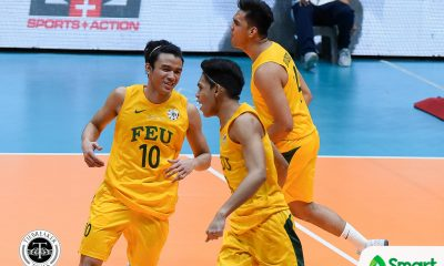 Tiebreaker Times Tamaraws keep Red Warriors winless, clinch Final Four spot FEU News UAAP UE Volleyball  UE Men's Volleyball UAAP Season 80 Men's Volleyball UAAP Season 80 Rod Roque Rikko Marmeto Rey Diaz Redijohn Paler Peter Quiel Owen Suarez FEU Men's Volleyball Clifford Inoferio