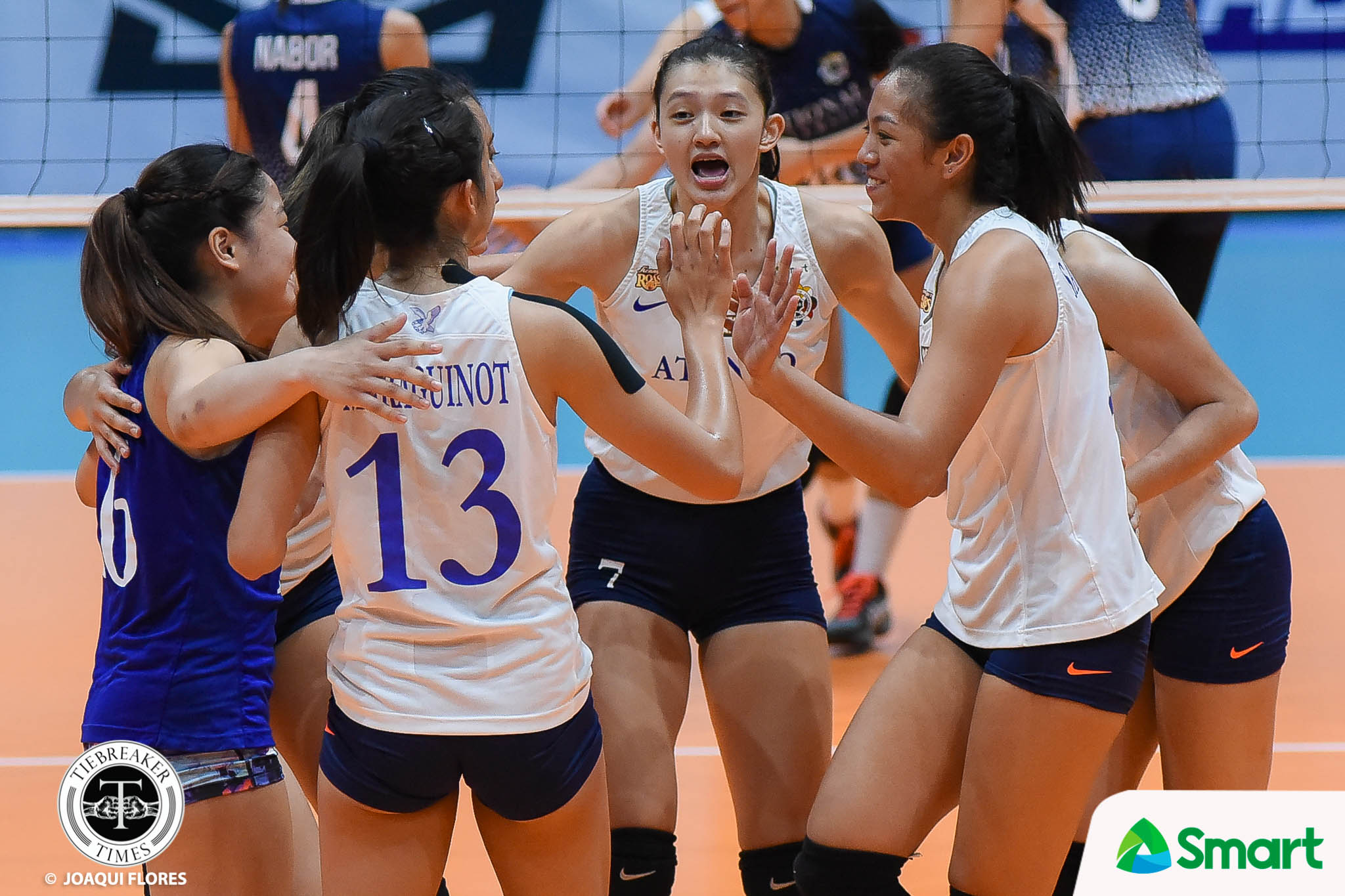 Tiebreaker Times Lady Eagles floor struggling Lady Bulldogs to create logjam for second ADMU News NU UAAP Volleyball  UAAP Season 80 Women's Volleyball UAAP Season 80 Tai Bundit Risa Sato Ria Lo NU Women's Volleyball Maddie Madayag Jhoana Maraguinot Jaja Santiago Deana Wong Babes Castillo Ateneo Women's Volleyball