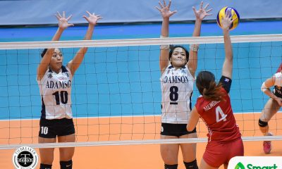 Philippine Sports News - Tiebreaker Times Adamson averts another UE upset, snaps two-game skid AdU News UAAP UE Volleyball  UE Women's Volleyball UAAP Season 80 Women's Volleyball UAAP Season 80 Thang Ponce Rod Roque Mylene Paat Mary Ann Mendrez Kath Arado Jema Galanza Fhen Emnas Air Padda Adamson Women's Volleyball