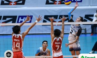 Tiebreaker Times Soaring Falcons stay in Final Four hunt, keep Red Warriors winless AdU News UAAP UE Volleyball  UE Men's Volleyball UAAP Season 80 Men's Volleyball UAAP Season 80 Rod Roque Rence Melgar Pao Pablico Leo Miranda Lenard Amburgo Kim Adriano Domingo Custodio Adamson Men's Volleyball