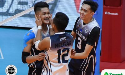Tiebreaker Times Soaring Falcons shock Bulldogs, stay on pace for Final Four AdU News NU UAAP Volleyball  UAAP Season 80 Men's Volleyball UAAP Season 80 Rence Melgar Pao Pablico NU Men's Volleyball Leo Miranda Lenard Amburgo Fauzi Ismail Domingo Custodio Dante Alinsunurin Bryan Bagunas Adamson Men's Volleyball