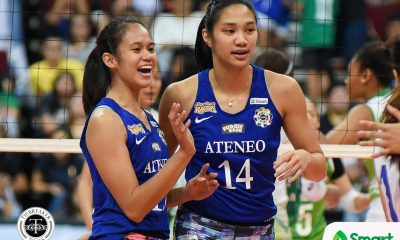Tiebreaker Times Lack of reception killed Lady Eagles, admit Bea de Leon, Maddie Madayag ADMU News UAAP Volleyball  UAAP Season 80 Women's Volleyball UAAP Season 80 Maddie Madayag Bea De Leon Ateneo Women's Volleyball