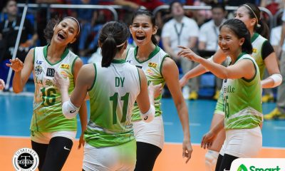 Philippine Sports News - Tiebreaker Times Majoy Baron, seniors were not about to let La Salle down DLSU News UAAP Volleyball  UAAP Season 80 Women's Volleyball UAAP Season 80 Ramil De Jesus Majoy Baron DLSU Women's Volleyball