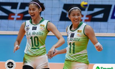 Philippine Sports News - Tiebreaker Times Lady Spikers starting to find groove after another convincing win DLSU News UAAP Volleyball  UAAP Season 80 Women's Volleyball UAAP Season 80 Ramil De Jesus Kim Dy DLSU Women's Volleyball