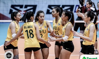 Philippine Sports News - Tiebreaker Times Lady Tamaraws outlast Lady Maroons for seventh win FEU News UAAP UP Volleyball  UP Women's Volleyball UAAP Season 80 Women's Volleyball UAAP Season 80 Tots Carlos Kyle Negrito Jeanette Villareal Isa Molde Godfrey Okumu George Pascua FEU Women's Volleyball Buding Duremdes Bernadeth Pons