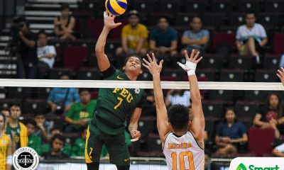 Tiebreaker Times Tamaraws topple error-prone Tiger Spikers to remain on top FEU News UAAP UST Volleyball  UST Men's Volleyball UAAP Season 80 Men's Volleyball UAAP Season 80 RJ Paler Rikko Marmeto Rey Diaz Odjie Mamon Kris Silang Jude Garcia Joshua Umandal FEU Men's Volleyball Arnold Bautista