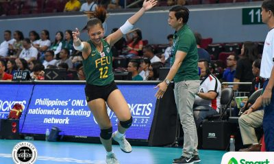 Tiebreaker Times Lady Tamaraws sail past Golden Tigresses for fourth straight win FEU News UAAP UST Volleyball  UST Women's Volleyball UAAP Season 80 Women's Volleyball UAAP Season 80 Toni Rose Basas Ria Duremdes Kyle Negrito Kungfu Reyes George Pascua FEU Women's Volleyball Cherry Rondina Celine Domingo Carla Sandoval