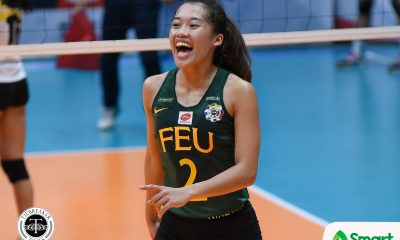 Philippine Sports News - Tiebreaker Times SMART Sports Player of the Week Bernadeth Pons continues to embrace the pressure FEU News UAAP Volleyball  UAAP Season 80 Women's Volleyball UAAP Season 80 UAAP Player of the Week FEU Women's Volleyball Bernadeth Pons