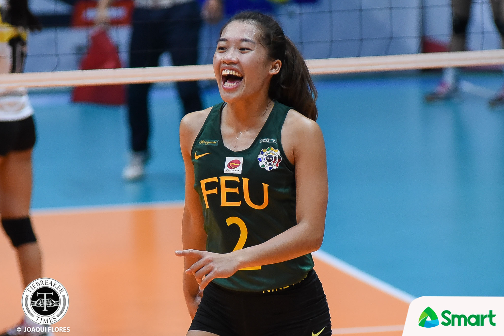 Tiebreaker Times SMART Sports Player of the Week Bernadeth Pons continues to embrace the pressure FEU News UAAP Volleyball  UAAP Season 80 Women's Volleyball UAAP Season 80 UAAP Player of the Week FEU Women's Volleyball Bernadeth Pons