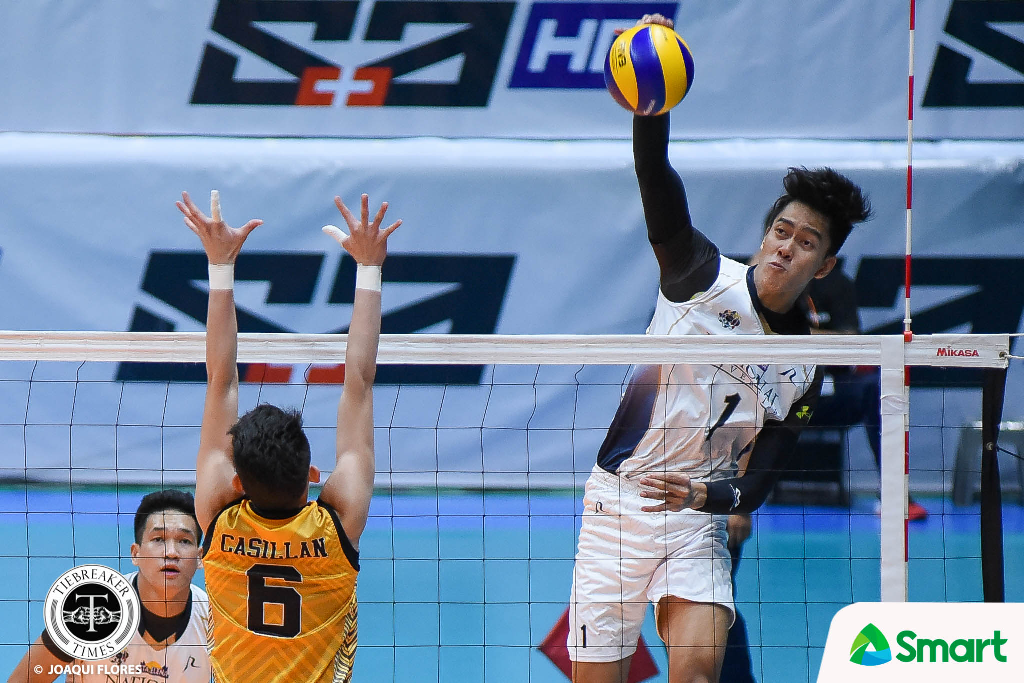 Philippine Sports News - Tiebreaker Times National U rolls to seventh straight win, keeps UST struggling News NU UAAP UST Volleyball  UST Men's Volleyball UAAP Season 80 Men's Volleyball UAAP Season 80 Ricky Marcos Odjie Mamon NU Men's Volleyball Kim Malabunga Kim Dayandante Joshua Umandal Dante Alinsunurin Byran Bagunas