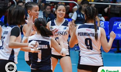 Philippine Sports News - Tiebreaker Times Incredibly photogenic Jema Galanza says viral pictures just show her enjoying volleyball AdU News UAAP Volleyball  UAAP Season 80 Women's Volleyball UAAP Season 80 Jema Galanza Adamson Women's Volleyball