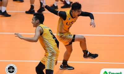 Tiebreaker Times Tiger Spikers end five-game slide, keep Red Warriors winless News UAAP UE UST Volleyball  UST Men's Volleyball UE Men's Volleyball UAAP Season 80 Men's Volleyball UAAP Season 80 Timothy Tajanlangit Rod Roque Odjie Mamon Lester Sawal Joshua Umandal Geric Ortega Arnold Bautista Alven Aljas