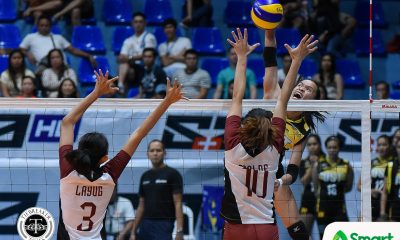 Philippine Sports News - Tiebreaker Times Cherry Rondina pulls teammates aside before UP match: 'Huwag niyo akong pasikatin, UST ang pasikatin natin' News UAAP UST Volleyball  UST Women's Volleyball UAAP Season 80 Women's Volleyball UAAP Season 80 Kungfu Reyes Cherry Rondina