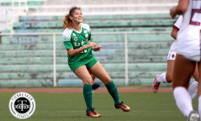 Philippine Sports News - Tiebreaker Times Shannon Arthur, La Salle edge UP, near third straight Finals appearance DLSU Football News UAAP UP  Vanessa Estrada UP Women's Football UAAP Season 80 WOmen's Football UAAP Season 80 Shannon Arthur Natasha Lacson Hans-Peter Smit Franco Gambico DLSU Women's Football