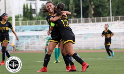 Tiebreaker Times Charisa Lemoran, Mae Cadag score doubles as UST returns to the Finals with La Salle clobbering DLSU Football News UAAP UST  UST Women's Football UAAP Season 80 WOmen's Football UAAP Season 80 Shannon Arthur Nicole Reyes Natasha Lacson Mary Indac Mae Cadag Kyla Inquig Hans-Peter Smit DLSU Women's Football Charisa Lemoran Aging Rubio