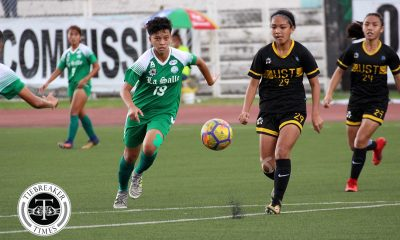 Tiebreaker Times Kyla Inquig revels in La Salle's successful title defense before joining Air Force DLSU Football News UAAP  UAAP Season 80 WOmen's Football UAAP Season 80 Kyla Inquig DLSU Women's Football