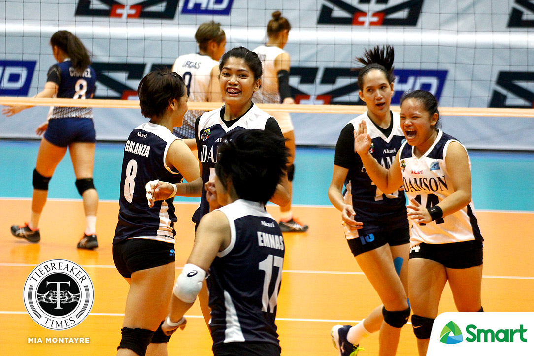 Tiebreaker Times Lady Falcons send Lady Bulldogs spiraling to third straight loss AdU News NU UAAP Volleyball  UAAP Season 80 Women's Volleyball UAAP Season 80 Thang Ponce NU Women's Volleyball Joy Dacoron Jema Galanza Jaja Santiago Fhen Emnas Babes Castillo Air Padda Adamson Women's Volleyball