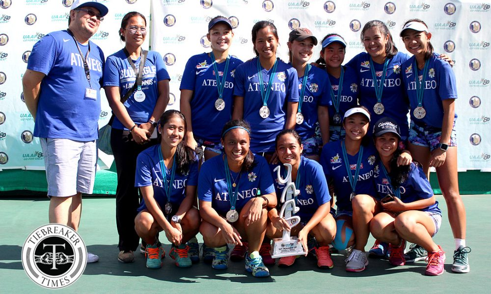 UAAP 80 Women's Tennis – 1st Runner Up – Ateneo Lady Eagles