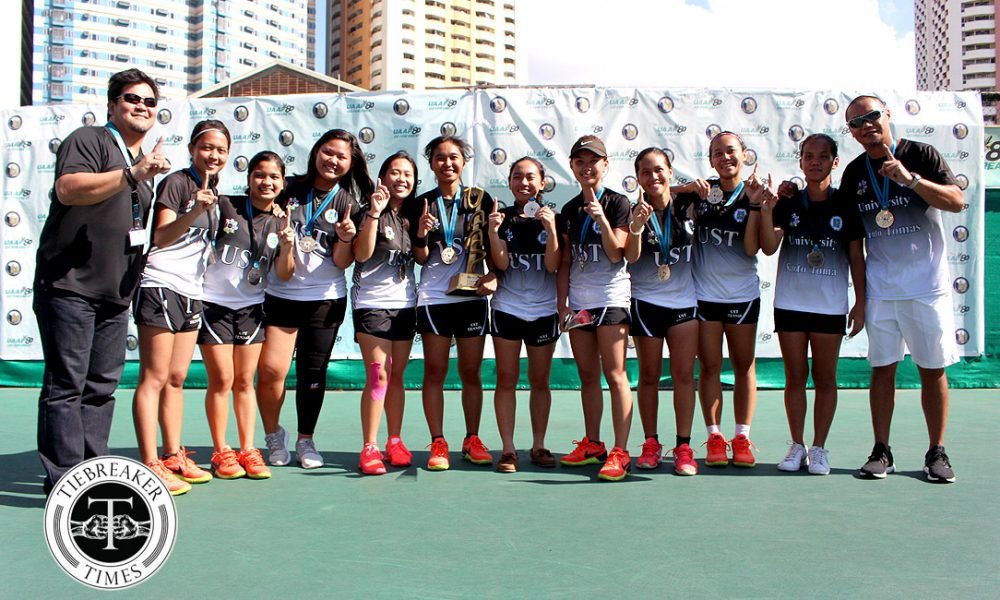 UAAP 80 Women's Tennis – Champions – UST Female Tennisters