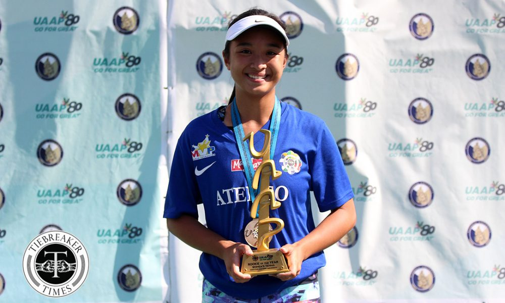 UAAP 80 Women's Tennis – Rookie of the Year – Martina Bautista
