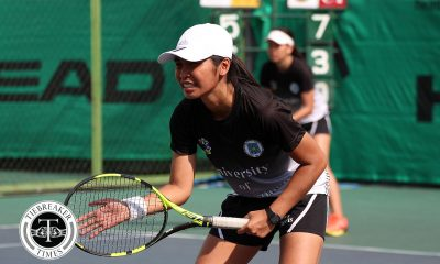 Philippine Sports News - Tiebreaker Times Title-seeking UST Female Tennisters move closer to Finals incentive News Tennis UAAP UP UST  Willow Day UST Women's Tennis UP Women's Tennis UAAP Season 80 Women's Tennis UAAP Season 80 Tin Gulosino Kendies Malinis Genevieve Caorte Erika Manduriao Dana Uy