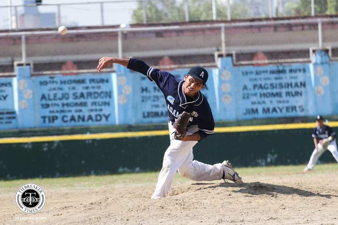 Philippine Sports News - Tiebreaker Times Practice may have been Adamson's secret weapon but Jerome Yenson is their 'lethal weapon' AdU Baseball News UAAP  UAAP Season 80 Baseball UAAP Season 80 Orlando Binarao Jerome Yenson Adamson Baseball