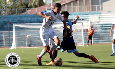Philippine Sports News - Tiebreaker Times Jarvey Gayoso goes goal crazy as Blue Eagles clobber Soaring Falcons AdU Football News UAAP  UAAP Season 80 Men's Football UAAP Season 80 Nolan Manito John Paul Merida Jarvey Gayoso Gavin Rosario Carl Viray Ateneo Men's Football Adamson Men's Football
