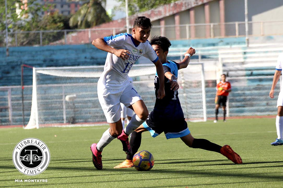 Tiebreaker Times Jarvey Gayoso goes goal crazy as Blue Eagles clobber Soaring Falcons AdU Football News UAAP  UAAP Season 80 Men's Football UAAP Season 80 Nolan Manito John Paul Merida Jarvey Gayoso Gavin Rosario Carl Viray Ateneo Men's Football Adamson Men's Football