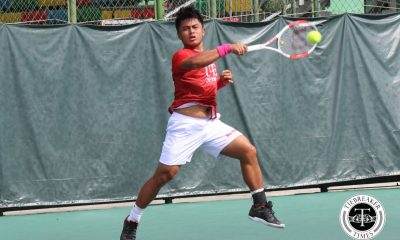 Philippine Sports News - Tiebreaker Times Finals-bound Red Warriors boot Green Tennisters, stay perfect DLSU News Tennis UAAP UE  UE Men's Tennis UAAP Season 80 Men's Tennis UAAP Season 80 Rogelio Estaño Rodolfo Barquin RJ Saga Kyle Parpan Josshua Kindaaman Hans Asistio DLSU Men's Tennis AJ Lim