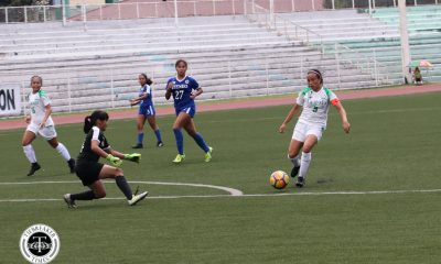 Tiebreaker Times Kyra Dimaandal opens tally as crippled La Salle eliminates Ateneo from Finals contention ADMU DLSU Football News UAAP  UAAP Season 80 WOmen's Football UAAP Season 80 Natasha Lacson Moira Lim Kyra Dimaandal John Paul Merida Hans-Peter Smit DLSU Women's Football Ateneo Women's Football