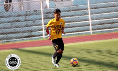 Philippine Sports News - Tiebreaker Times Harold Alcoresa, FEU give Nano Amita fitting send-off AdU FEU Football News UAAP  UAAP Season 80 Men's Football UAAP Season 80 Nolan Manito Nano Amita Jusuel Pelarca Jesus Cayadong Harold Alcoresa FEU Men's Football Dave Parac Carl Viray Adamson Men's Football