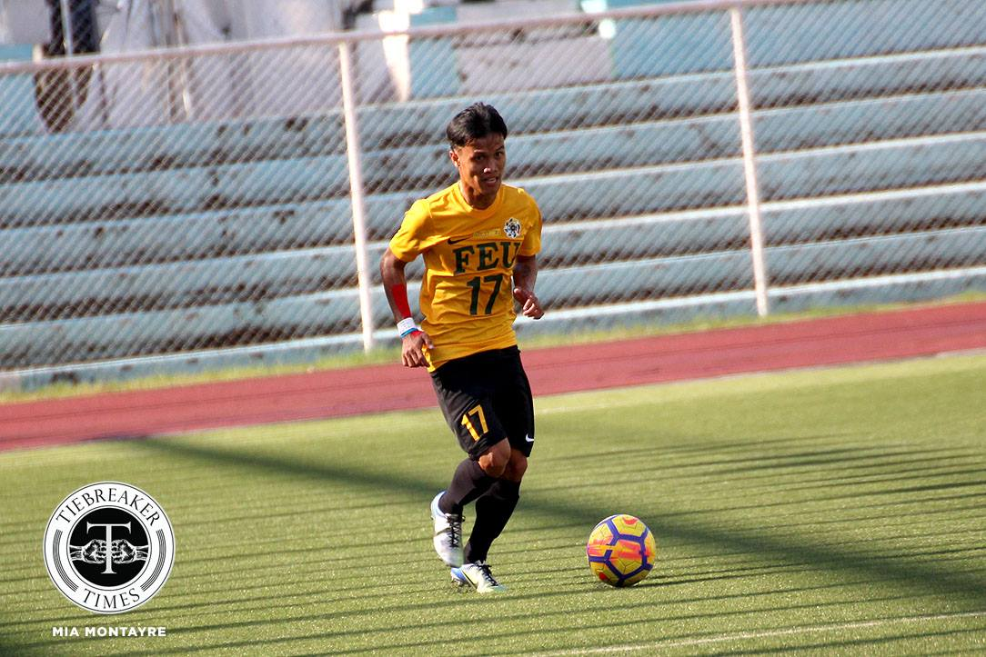Tiebreaker Times Harold Alcoresa, FEU give Nano Amita fitting send-off AdU FEU Football News UAAP  UAAP Season 80 Men's Football UAAP Season 80 Nolan Manito Nano Amita Jusuel Pelarca Jesus Cayadong Harold Alcoresa FEU Men's Football Dave Parac Carl Viray Adamson Men's Football