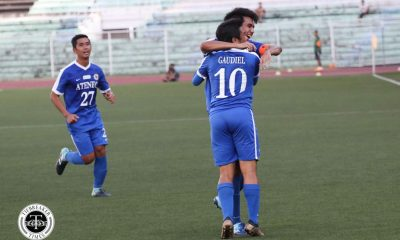 Philippine Sports News - Tiebreaker Times Jeremiah Rocha-less Ateneo blank UST to inch closer to the Final Four ADMU Football News UAAP UST  Zaldy Abraham UST Men's Football UAAP Season 80 Men's Football UAAP Season 80 Renko Gaudiel Marjo Allado John Paul Merida Jarvey Gayoso Jae Arcilla Ateneo Men's Football