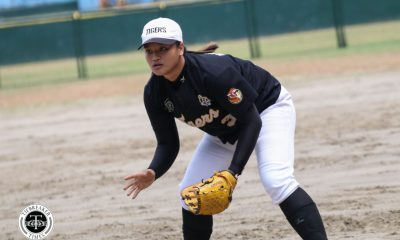 Philippine Sports News - Tiebreaker Times UST takes Game One, sends Adamson to unfamiliar situation AdU News Softball UAAP UST  UST Softball UAAP Season 80 Softball UAAP Season 80 Sandy Barredo Lyca Basa Bianca Hernandez Ann Antholihao Ana Santiago Adamson Softball